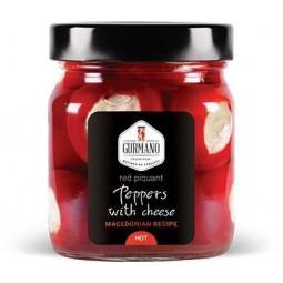 Papričky plněné sýrem ostré 290g