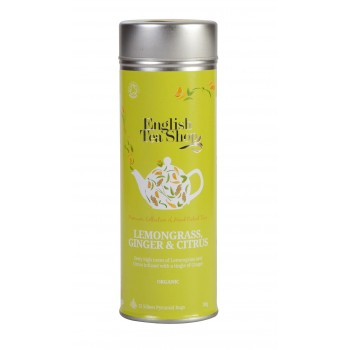 Certifikovaný BIO čaj citronová tráva, zázvor a citrusy plechovka