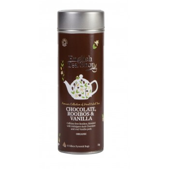 BIO čaj čokoláda, Rooibos a Vanilka plechovka