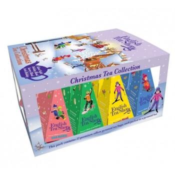 Vánoční dárková kolekce 12 pyramidek Lyžaři
