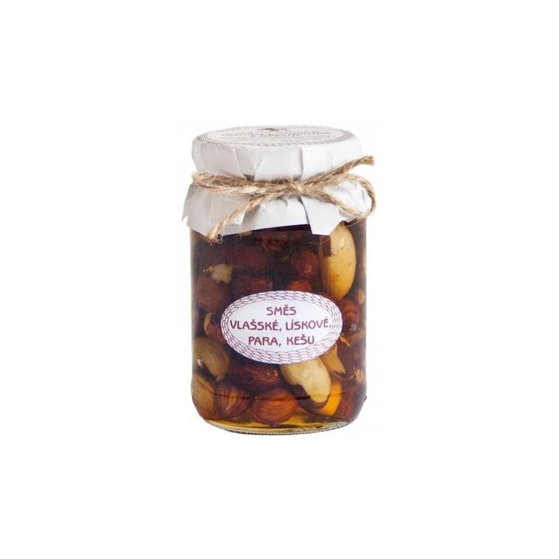 Směs ořechů v medu