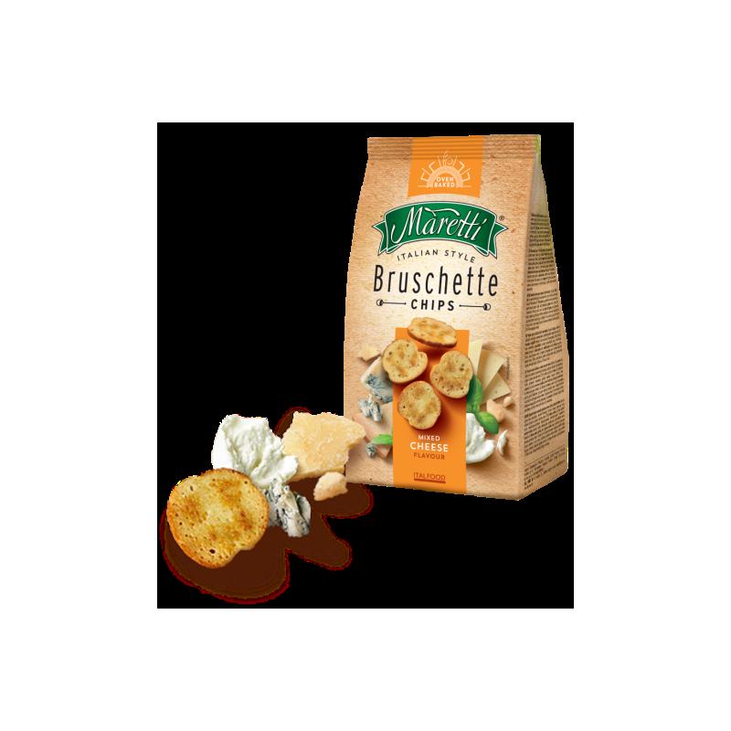 Bruschetta čtyři sýry