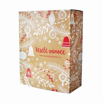 Vánoční krabička zlatá