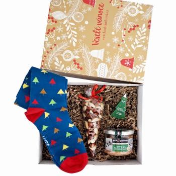 Vánoční krabička s ponožkami