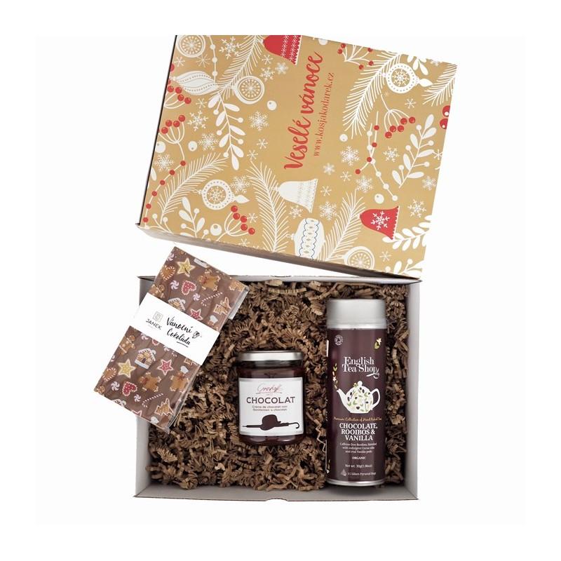 Vánoční krabička čokoládová