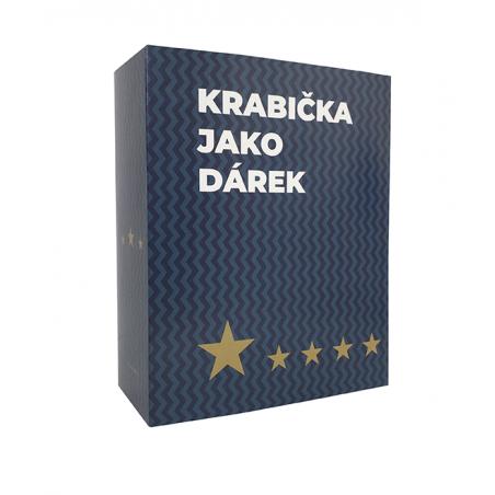 Krabička pro muže s hvězdami modrá