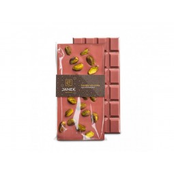 Ruby čokoláda s pistáciemi 90g